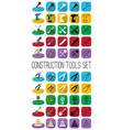 construction tools in different style outline vector image