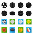 design of sport and ball symbol collection vector image vector image