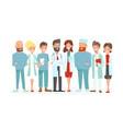 doctors team happy and vector image vector image