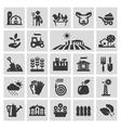 farm logo design template gardening vector image vector image