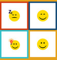 flat icon expression set of joy have an good vector image vector image