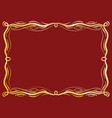 gold antique frame with laces vector image