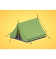 Green camping tents vector image