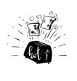 hand drawn doodle style vector image vector image