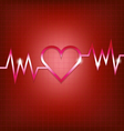 Heart shape concept with pulsation vector image vector image