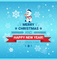 holiday poster merry christmas and happy new year vector image vector image