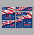 independence day celebration banners set vector image