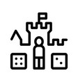interactive kids castle personage sign icon vector image vector image