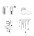 isolated object of weather and climate logo set vector image vector image