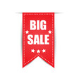labels big sale red vector image vector image
