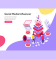 landing page template social media influencer vector image vector image