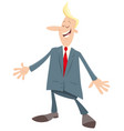 man or businessman cartoon character vector image vector image