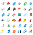 mobile file icons set isometric style vector image vector image