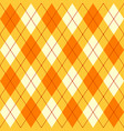 orange yellow and white seamless argyle pattern vector image vector image