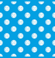 plastic button pattern seamless blue vector image vector image