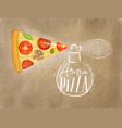 poster aroma pizza craft vector image vector image