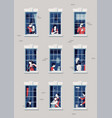 quality flat on neighbours various people seen vector image vector image