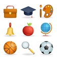 Realistic School icons education symbols set line vector image vector image
