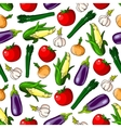 Ripe vegetables seamless pattern background vector image vector image