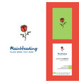 rose creative logo and business card vertical vector image