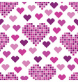 seamless pattern with lots of pink hearts vector image vector image