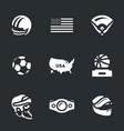 set america symbols icons vector image vector image