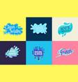 set icons with water pure liquid aqua vector image