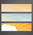 Set of summer banners vector image