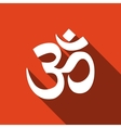 Sign Om Symbol of Buddhism and Hinduism religions vector image vector image