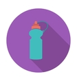 Sports water bottle icon vector image vector image