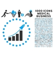 Startup Sales Icon with 1000 Medical Business vector image vector image