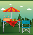 summer picnic outdoor vector image