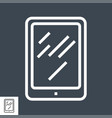 tablet pc thin line icon vector image