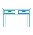 teacher desk isolated icon vector image