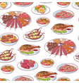 thai cuisine dishes on white background vector image vector image