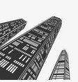 top architecture skyscraper in perspective vector image vector image