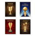 trophy poster winner awards placard design vector image