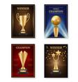 trophy poster winner awards placard design vector image vector image