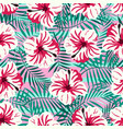 tropical pattern on pink vector image vector image