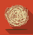 tumbleweed icon flate singe western icon from the vector image vector image