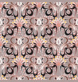 vintage floral seamless pattern abstract vector image vector image