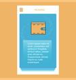 wallet mobile vertical banner design design vector image vector image