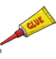yellow tube of glue vector image vector image