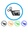 cut credit card rounded icon vector image