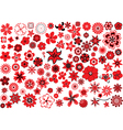 100 flowers vector image