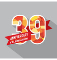 39th Years Anniversary Celebration Design vector image vector image