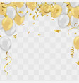 abstract background and party balloons vector image vector image