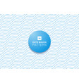 abstract blue dots waves pattern on white vector image