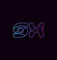 alphabet letter combination sx s x logo company vector image vector image