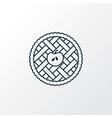 apple pie icon line symbol premium quality vector image